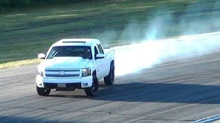Procharged Chevy Silverado Pickup Truck Hooning (Drifting/Burnouts/etc.)