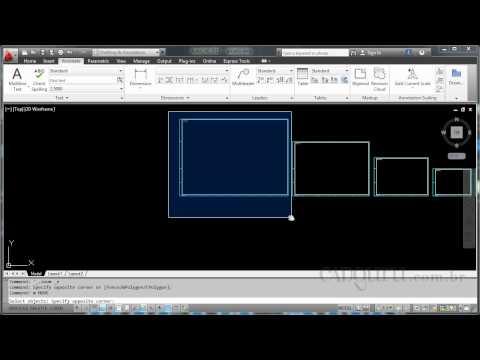 Desenho dos formatos para plotagem - Curso AutoCAD 2012 Des Det Conj - Aula 10.1 - cadguru