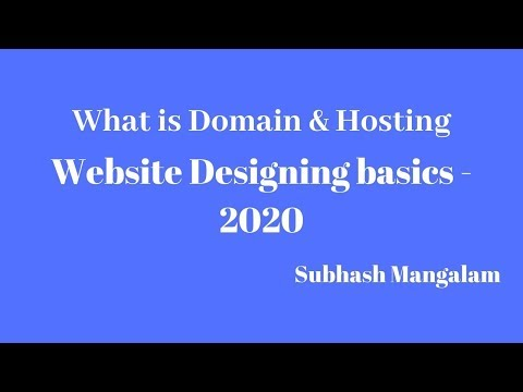 How to Buy Domain and Hosting - Website Designing Basics 2020
