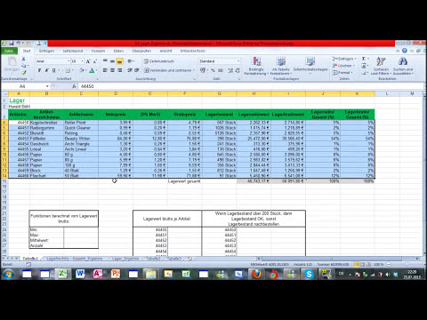 Excel Part 1-1 - ECDL Tutorial - Microsoft Office - Computertraining [German/Deutsch]