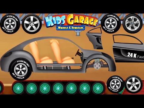 Cars Factory - Animation Cartoons for Children   Car Driving for Kids - Kids Garage Wheels