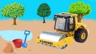 Đồ chơi trẻ em  🚛 đồ chơi ô tô 🚛 Xe Lu Giúp Xe Tải Thoát Nạn