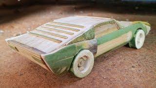 Cara Membuat Miniatur Musle Car dari Bambu.Lamborghini Miura.
