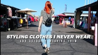 styling clothes I never wear and actually wearing them