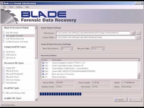 EnCase e01 COnversion to Segmented Flat File Image