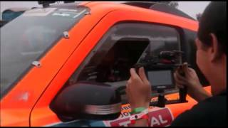 2015 Dakar Stage 13 Robby Gordon Win Celebration