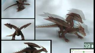 Animation Reference Library  Mixamo 3D Dragon Walk