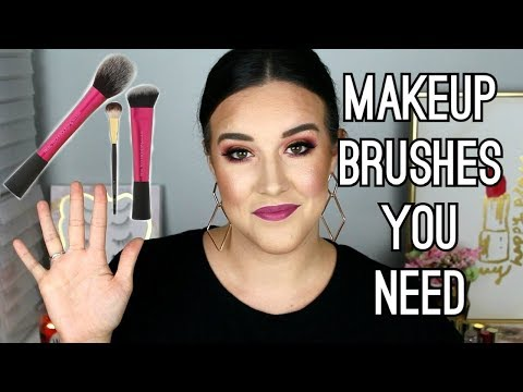 5 MAKEUP BRUSHES EVERYONE NEEDS | BEST DRUGSTORE MAKEUP BRUSHES