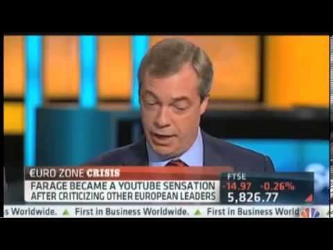 CNBC   UKIP Nigel Farage on Merkel Visiting Greece Amid Protests    October 2012