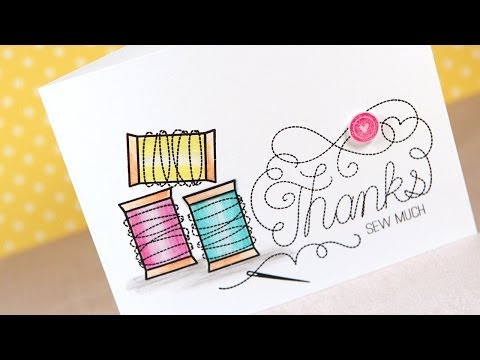 Inktense Pencils, Dove Blender, & Mama Elephant Stitches - Color Wednesday #49