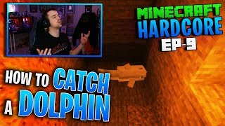 HARDCORE MINECRAFT! How to CATCH A DOLPHIN! Ep. 9