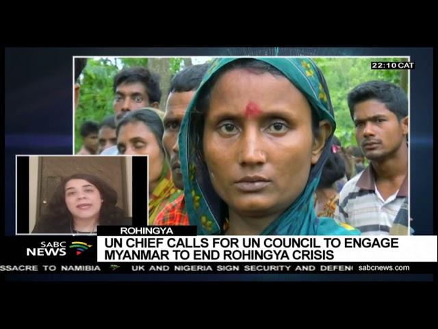 Rohingya crisis report by UN: Shabnam Mayet