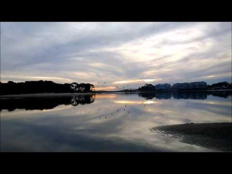 naturaleza hermosa en el arroyo de la barra de maldonado - uruguay