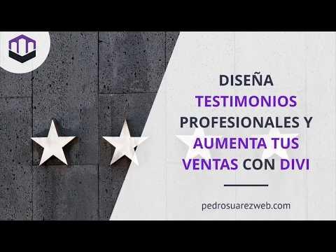 Cómo diseñar testimonios profesionales con Divi - #1. Módulo de Recomendación