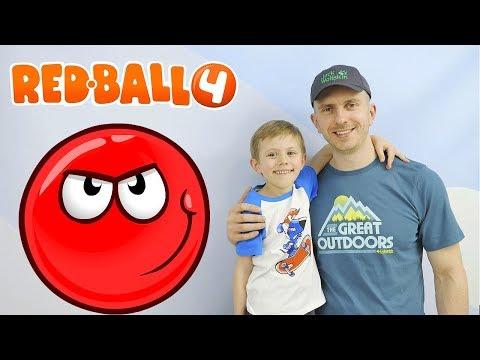 КРАСНЫЙ ШАР 4 Начало игры БОСС №1 Даник и детский летсплей Red Ball 4