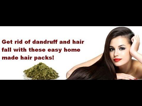 Dandruff and Hairfall - Home remedies and hair packs