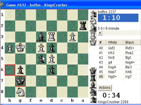 Chess World.net: Blitz #334 vs. buffos (2237) - Benko gambit: main line (A58) (Chessworld.net)