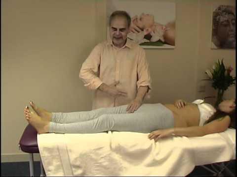 Asian massage techniques on table: legs 7