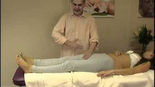 Asian massage techniques on table: legs 7