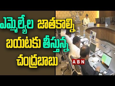 CM Chandrababu Serious Warning To MLAs