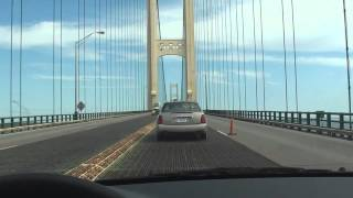 Northern Michigan scenery and crossing of Mackinac bridge.