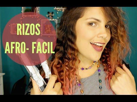 Como hacer RIZOS Afro en casa - RIZOS CON PINCELES / FACIL