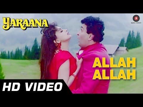 Allah Allah Mera Dil Dhadke | Yaraana [1995] | Rishi Kapoor, Madhuri Dixit | Romantic Songs video