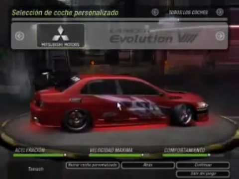 nfs underground 2 carros rapido y furioso 2 echo x lion177alan.mp4 Video