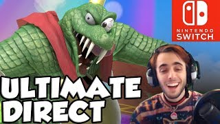 NEW SUPER SMASH BROS ULTIMATE DIRECT REACTION! THIS GAME IS INSANE!