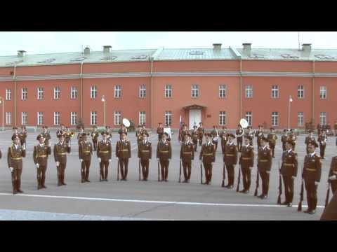 Показательное выступление Роты Почётного Караула и ВООПК - плац 154 ОКП