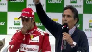 Sebastian Vettel World Champion 2012 - Podium Ceremony | F1 Brazil 2012