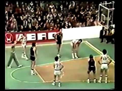 MOBILGIRGI VARESE VS REAL MADRID - FINALE COPPA CAMPIONI 1976 II TEMPO