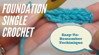 Foundation Single Crochet Tutorial #1: How to Foundation Single Crochet