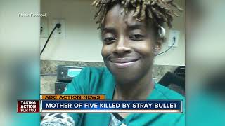 Mother of five killed by stray bullet