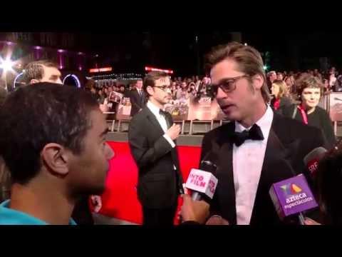 Brad Pitt, Logan Lerman at the Fury London Film Festival premiere