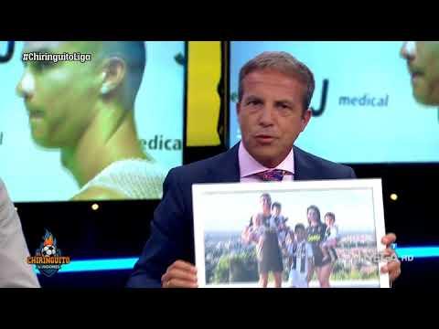 Cristóbal Soria LE REGALA a Roncero y Edu Aguirre la FOTO de 'FAMIGLIA' de Cristiano