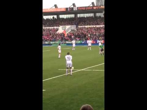 Jonny Wilkinson Penalty, Cardiff Blues vs Toulon, Heineken Cup, 19/10/2013