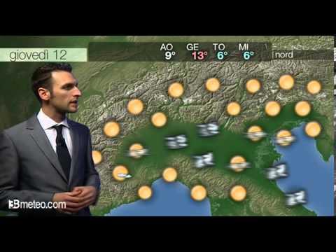 Previsioni meteo Video per giovedi, 12 dicembre