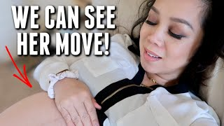 Seeing her move in my belly for the first time! - itsjudyslife
