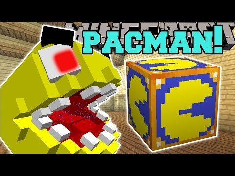 Minecraft: PACMAN GAME HUNGER GAMES - Lucky Block Mod - Modded Mini-Game
