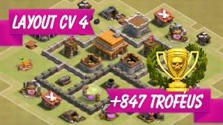 layout cv 4 guerra clash of clans layout th4 war - Layout Cv 4 Clash Of Clans