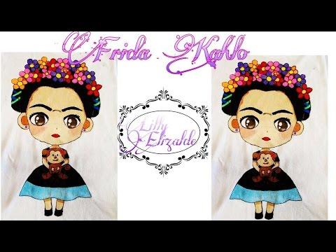 Frida Kahlo |Camisa Pintada a Mano|| Frida Kahlo Painted  On a Shirt