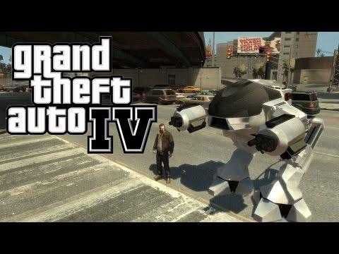 Grand Theft Auto IV Robocop Mod
