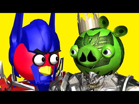 Angry Birds As Transformers ♫ 3d Animated  Movie Mashup Pt.2  ☺ Funvideotv - Style ;-)) video