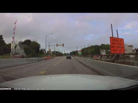 Sarah Long Bridge (Maine-NH Bridge) Drive Through 10-August-2016