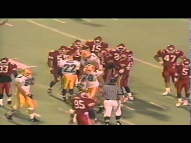 Oregon WR Ronnie Harris 16 yard catch then gets buried vs. Utah 9-21-1991