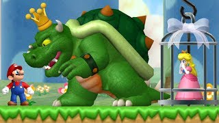 New Super Mario Bros. Wii - Evil King Koopa Fight in the first Level