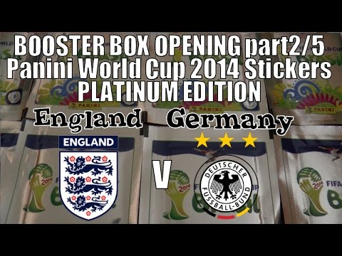 ENGLAND v GERMANY ☆ panini FIFA WORLD CUP 2014 Platinum Edition CHALLENGE! ☆ BOOSTER BOX pt2/5