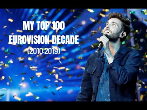 EUROVISION - MY TOP 100 OF THE DECADE (2010-2019)