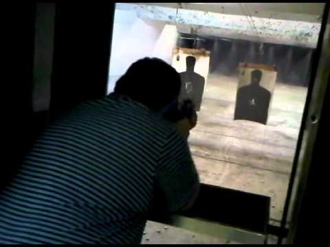 Firing full-auto 9mm Uzi